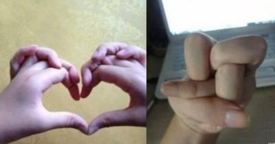 正常人根本做不出來的9個手勢,你能做到幾個?