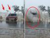 驚!恐怖巨浪「直撲救護車」蓋掉兩個車道,網友們全都嚇傻了!沒想到連錄影的人都...太誇張了!