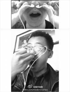男友昨天突然把耳機塞進鼻孔,竟然放出超動人的情歌