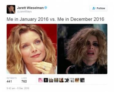 2016年超累!網友Kuso分享:「經過這一年,我變成這樣...」超崩壞的程度讓章魚哥也變成這樣...
