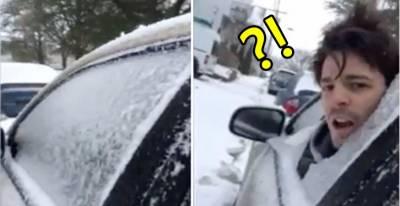 男子一臉淡定從車內撞破車窗!知道「背後原因」後大家都笑慘啦XDD
