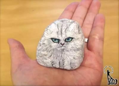 藝術家「把硬邦邦的石頭變成栩栩如生的畫作」化腐朽為神奇!不仔細看「還真的看不出來」竟然全部都是石頭!