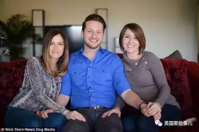 """國外一個被稱為""""世界上最幸運的男人"""",你們都錯了,最幸福的家庭是三人行"""