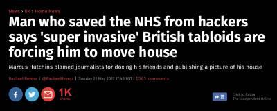 這阻止了病毒而紅遍世界的英國小哥,最近敗給了英國各路八卦小報....