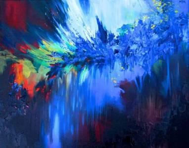 突變女孩「能畫出音樂的樣子變成藝術家」色彩繽紛!畫的作品「五彩繽紛」美到朋友以為他在嗑藥!