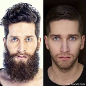 18幅刮鬍子對比圖,看完決定不留鬍子了