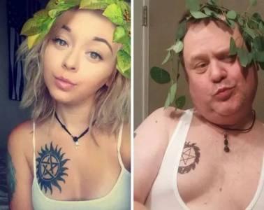 老爸專門模仿女兒的自拍,現在粉絲是女兒兩倍!