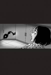 這名女子半夜醒來發現「有一隻血絲大眼盯著她」,沒想到追出去才發現,真正可怕的是「眼睛的主人」......