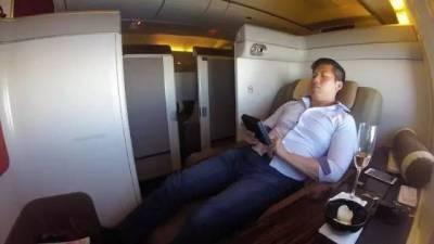 他花了76美金享受了一次價值7000美金的頭等艙,全程簡直了...