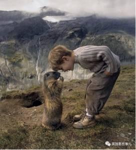 見人就跑的土撥鼠,黏上了一個3歲小男孩....從此他們有了個一年之約