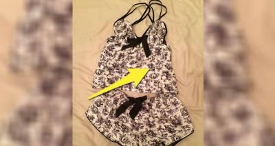 少女從內衣網站上買了件超可愛「大理石花紋」睡衣,結果收到貨細看花紋才發現「一世清白毀於一旦」