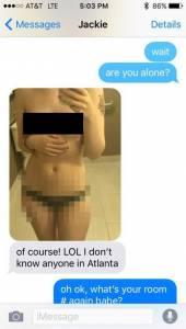 她出差到飯店傳「賣萌性感照」給男友欣賞,但男友卻看到「這個小地方」一口咬定她偷情!