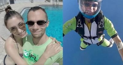 極限運動跳傘超過「600次」的高手,沒想到這次縱身一跳...卻天人永隔, 3只留下一句:「將要前往更美好的地方」。