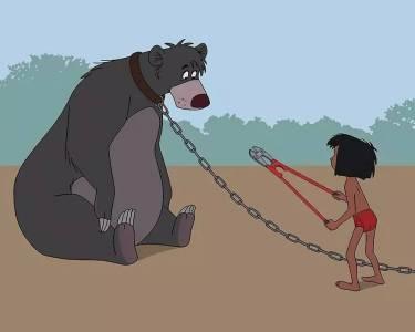 如果將迪士尼動畫片裡的人物,加入現在社會的生活型態,結果反應出...