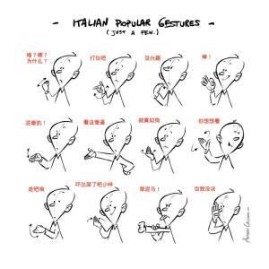因為一個手勢,義大利人被玩壞了...快跑啊!意大利人打人了!!