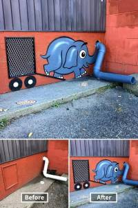 美國一位藝術家,將紐約的街道上弄出了各種有趣的街頭藝術造型,還真讓人有點佩服他!