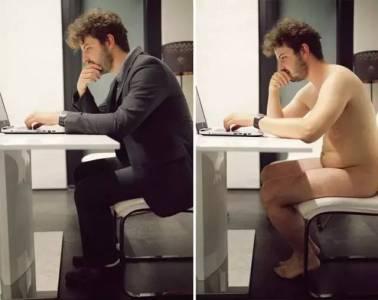 裸體和穿衣對比,原來裸著也可以很自然.....