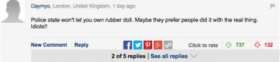 他們因為購買兒童性玩具被捕,然而網友們觀點卻不大一致...