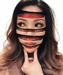 她畫的不是美妝,而是一種視覺衝擊的妝感...