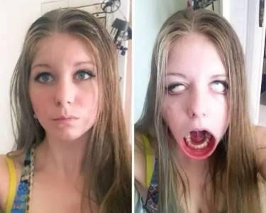 長得這麼美的姑娘,做起鬼臉,讓人分分鐘忍不住反手一個煤氣罐...