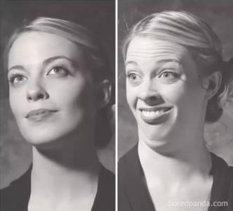 長得這麼美的姑娘,做起鬼臉,讓人分分鐘忍不住反手一個氧氣罐..