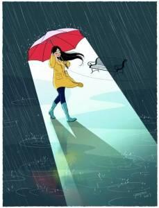 一個人的生活,經常被調侃為「單身狗」,一系列表現單身生活的漫畫,充滿陽光 積極的正能量