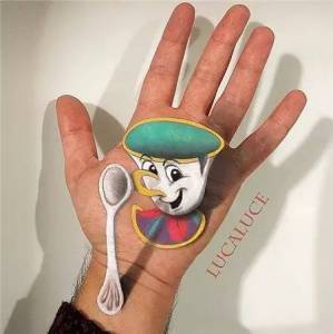 「寄生」在手上的3D繪畫,分得清現實與虛幻嗎