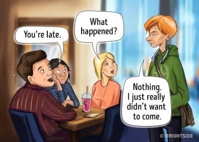 5張「如果這個世界上的人全都不說謊」的超爆笑漫畫。 3 原來這就是職場性騷擾!