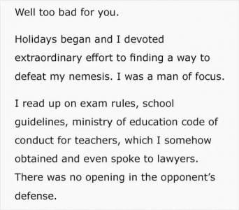考試中老師不借他一支筆,他令老師丟了工作,和老婆離婚...這是一個特殊的復仇故事...