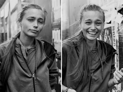 5個「被陌生的攝影師強吻」的每位女孩的表情變化照。 4 「這位的表情」我矇了...