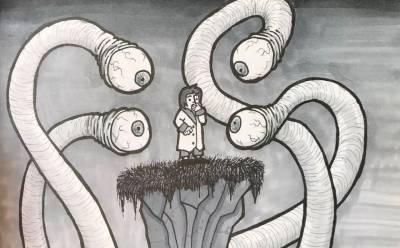 小時候噩夢裡的景象,有人全部畫出來了
