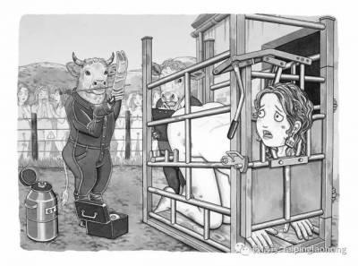 「當人肉被從超市買回?!」美國女畫家繪製的人與動物互換的世界
