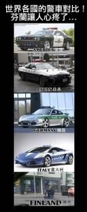 世界各國的警車對比芬蘭讓人心疼了...