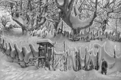 畫雪61年,74歲老人一支鉛筆將雪畫活,普京都被騙了