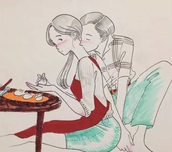朋友圈超甜漫畫:兩個人最舒服的生活狀態