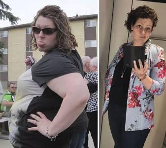 她用了兩年時間,減掉了半個自己。這個大姐的人生,可以說是非常勵志了...