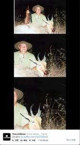 夜晚打獵拍照留念結果背後站著...