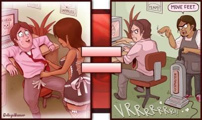 A片裡的劇情 vs 現實生活
