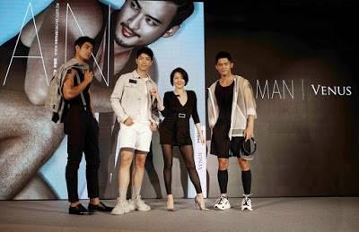 ChinaNews Lens-「他經濟」崛起!維娜斯推「MAN VENUS」男仕塑身衣搶市 現場被3帥模迷倒