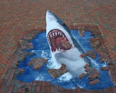 驚人!在街頭看到的那些3D立體畫