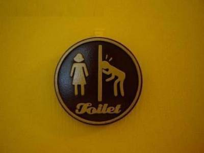 驚奇!世界上千奇百怪的廁所標識