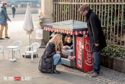 生活中讓我們快樂的小事,迷你可口可樂售貨亭現身柏林!