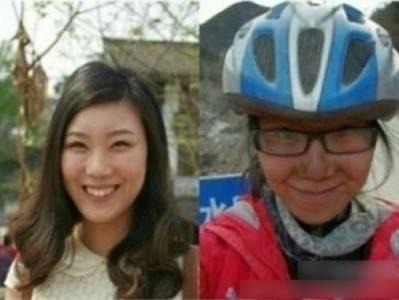 嚇傻!美女騎行西藏4個月後變遊民前後對比照!這還是同一個人嗎?