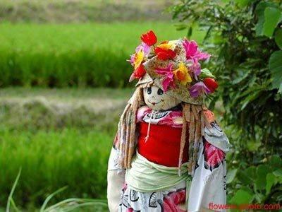 日本好有創意的稻草人