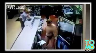 【誇張】美女要口交遭拒絕,在麥當勞全裸砸店