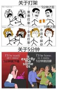 朋友圈裡轉瘋了 笑暈了~ 這就是男人和女人的區別!