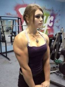 俄17歲最萌女漢子天使面孔猛男身材