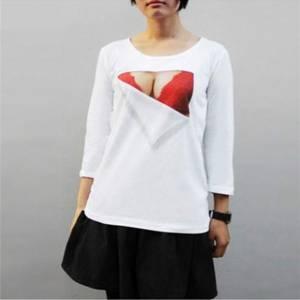 假爆乳T恤,讓平胸妹找回豐滿自信!