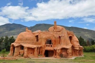 用粘土烤出的房子