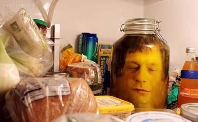 天哪!!怎麼會有一顆頭被醃在冰箱裡!!!原來是…